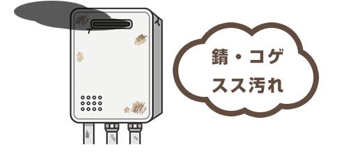 給湯器のコゲ・汚れ・腐食